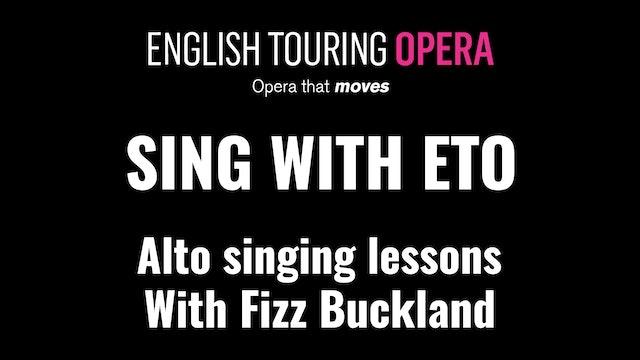 Singing lessons for altos