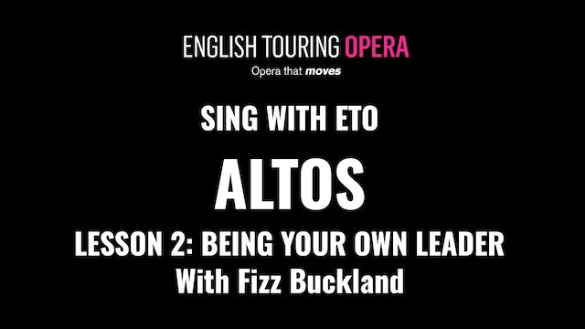 Alto Lesson 2 - Being your own leader