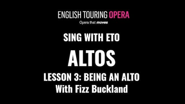 Alto Lesson 3 - Being an alto