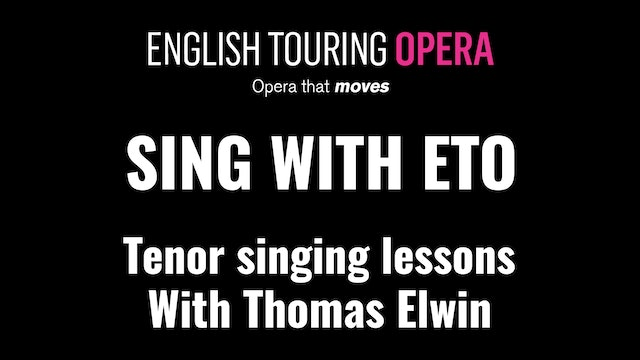Singing lessons for tenors