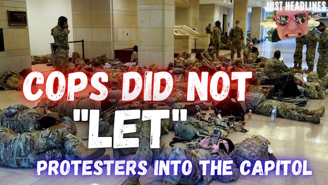 """Cops Did Not """"Let"""" Protesters Into The Capitol"""