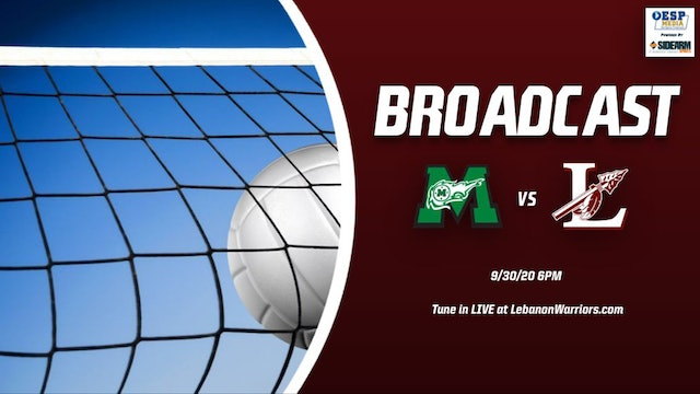 2020 Lebanon Girls Volleyball vs. Mason Comets - Part 2