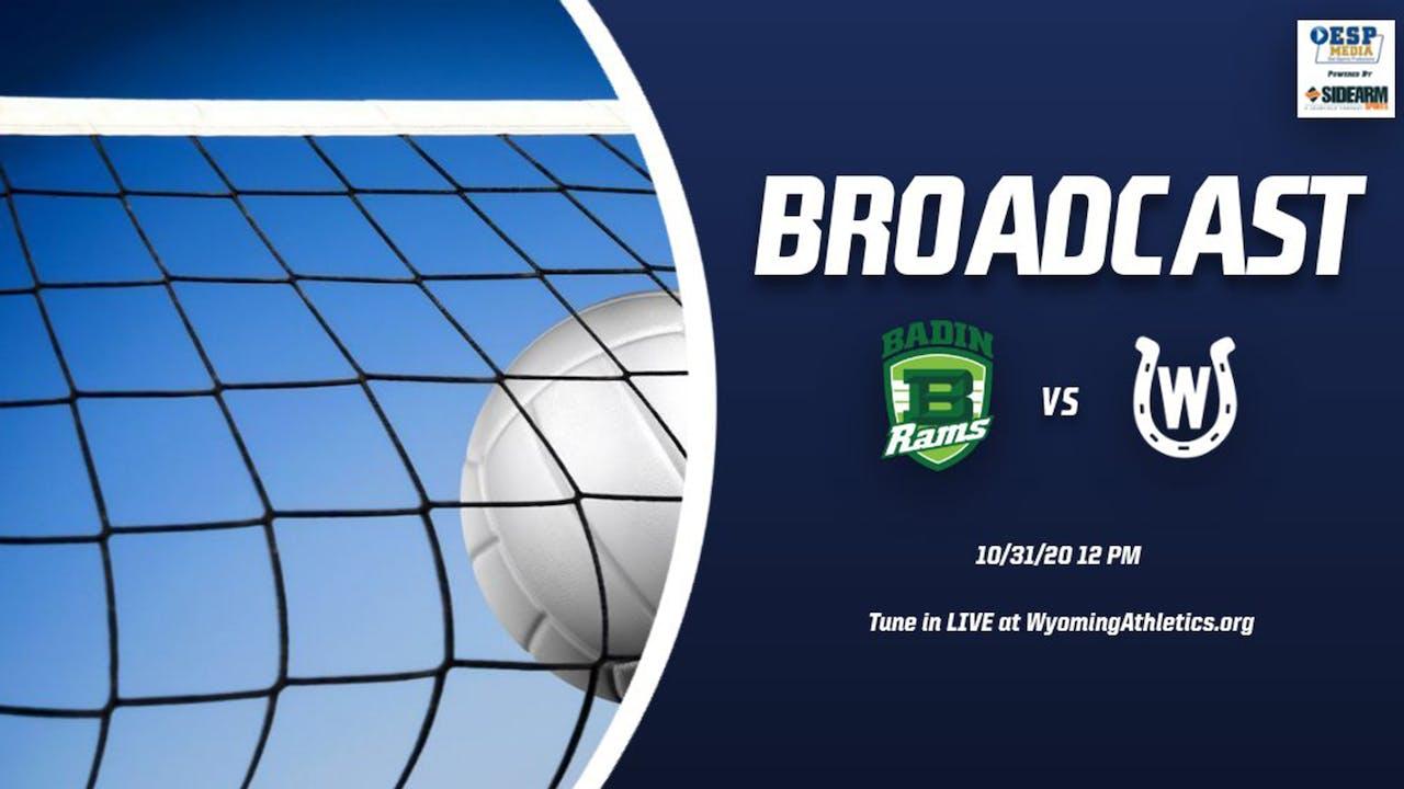 Wyoming Girls Volleyball vs. Badin Rams Playoffs
