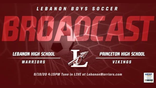 Lebanon Boys Soccer vs. Princeton Vik...