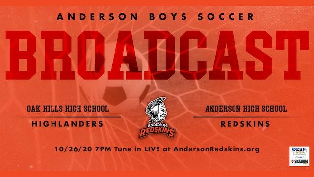 AUDIO ONLY: Anderson Boys Soccer vs. Oak Hills Highlanders Playoffs