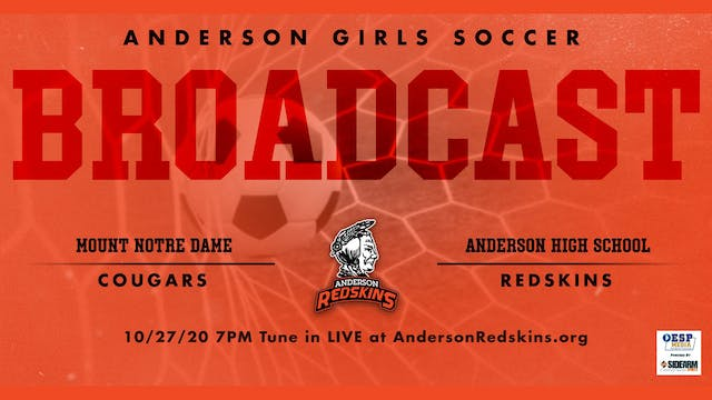 AUDIO ONLY: Anderson Girls Soccer vs....