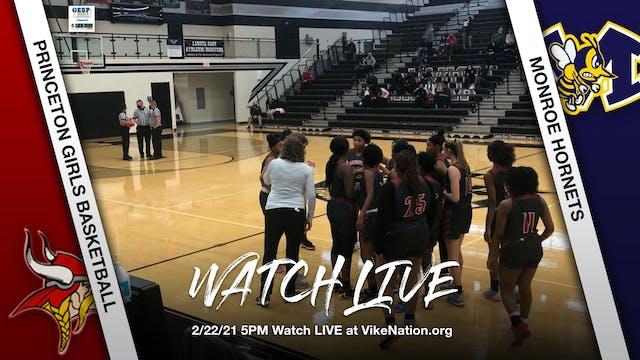 Princeton Girls Basketball vs. Monroe Hornets