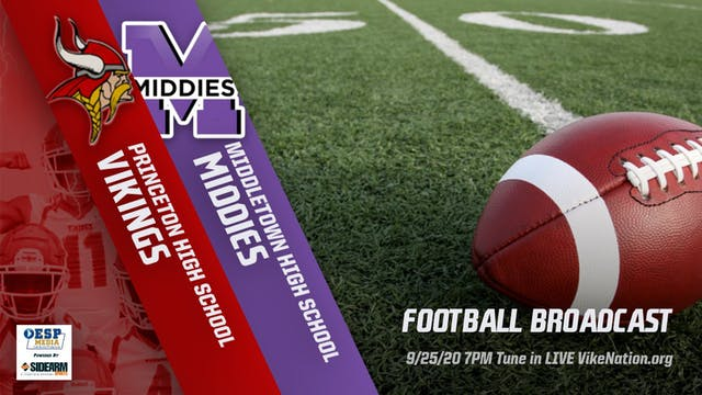 Princeton Football vs. Middletown Middies