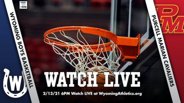 Wyoming Boys Basketball vs. Purcell Marian Cavaliers