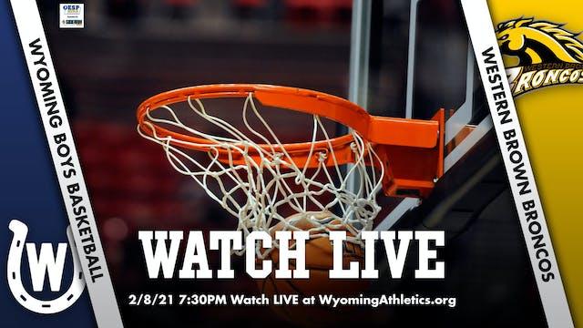 Wyoming Boys Basketball vs. Western Brown Broncos