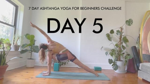 Day 5  Parsvakonasana: Ashtanga Challenge with Maria Margolies