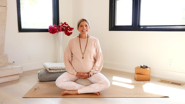 Let GO of Control Meditation: Third Trimester Prenatal Yoga Series with Andrea