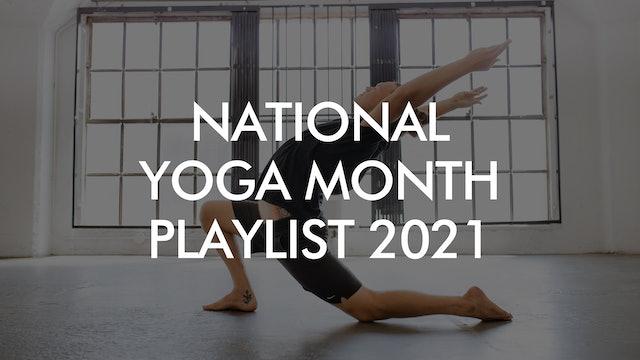 National Yoga Month Playlist 2021