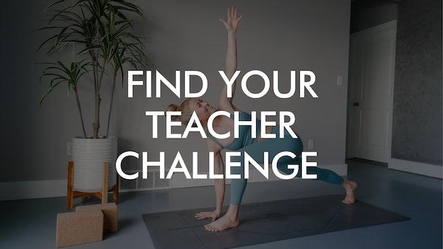 Find Your Teacher Challenge