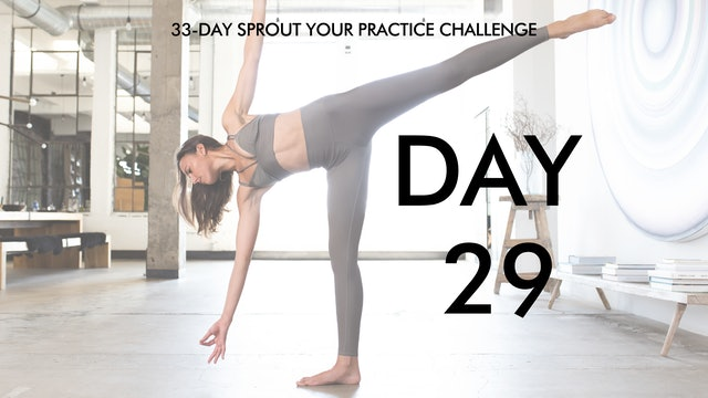 Day 29 Sprout Your Practice: Strong Vinyasa