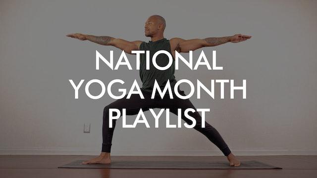 National Yoga Month Playlist