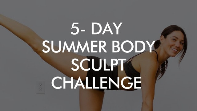 5-Day Summer Body Yoga Sculpt Challenge