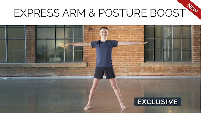 Express Arm & Posture Boost with Sasha Alcoloumbre