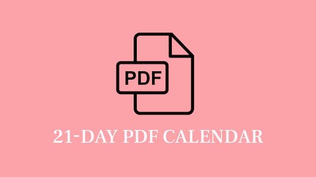Fit & Healthy Challenge Schedule