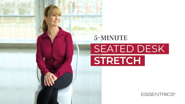 5 MIN Seated Desk Stretch with Mirand...