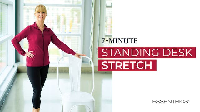7 MIN Standing Desk Stretch with Mira...