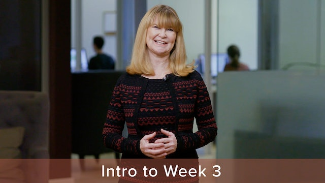 Introduction to Week 3