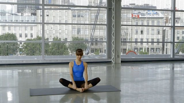 Barre Workout: Floor Stretch with Sah...
