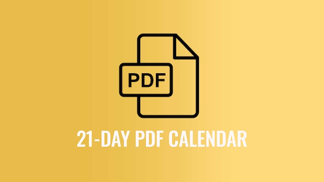 Download Your 20s 21-Day Challenge Schedule