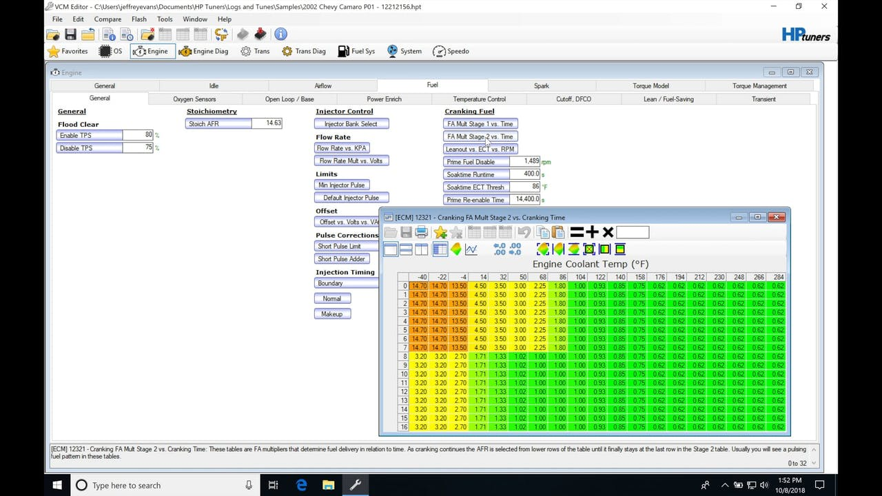 HP Tuners GM Gen III Part 10: Other Fuel Tables - HP Tuners GM Gen