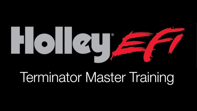 Holley Terminator X Master Training Course