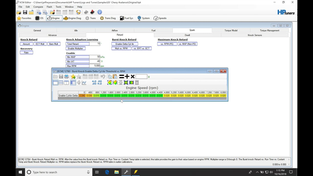 HP Tuners GM Gen III Part 14: Burst Knock - HP Tuners GM Gen