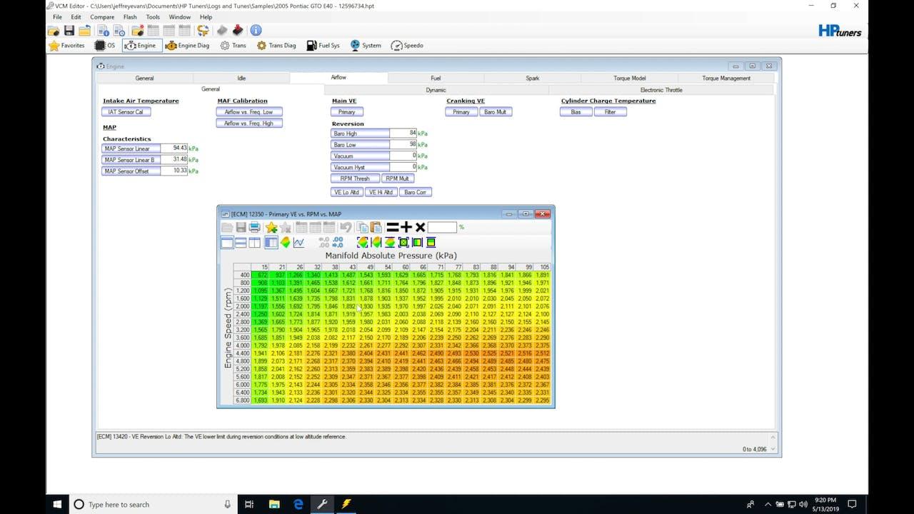 HP Tuners GM Gen 4 Training Part 15: E40 ECM Speed Density