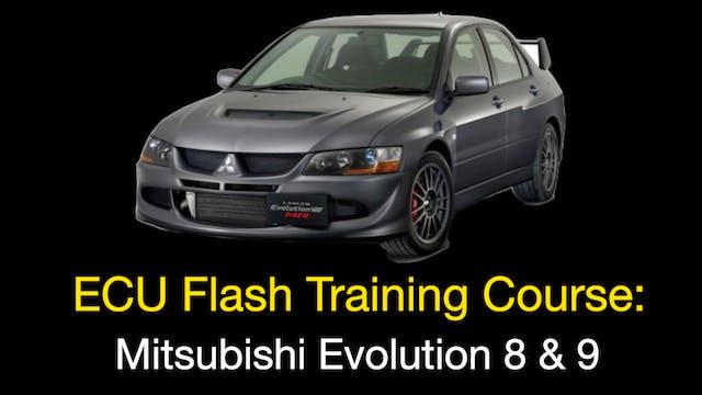 ECU Flash Training: Mitsubishi Evo 8 & 9