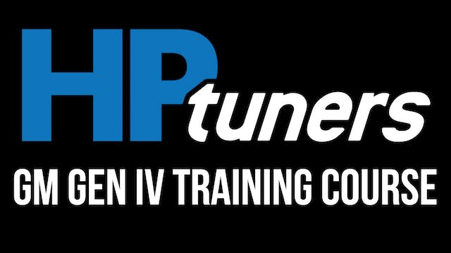 HP Tuners GM Gen IV Training Course