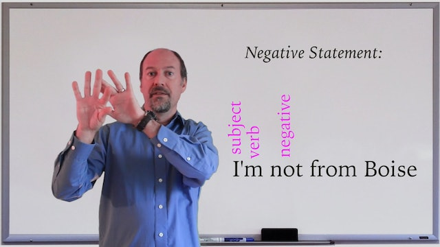 A1.L3.G1 Negative Statements and Yes/No questions with to be