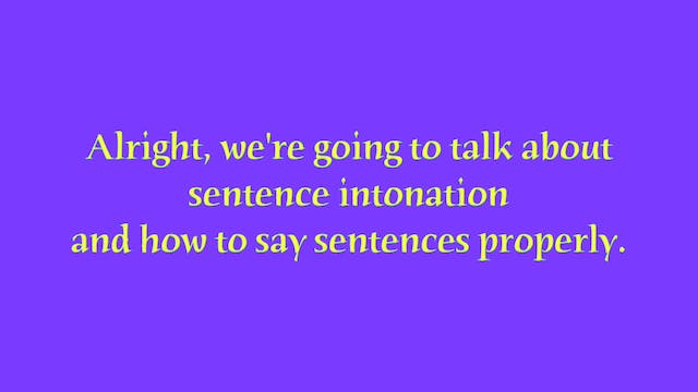 A1.L11 Sentence Intonation Pronunciation