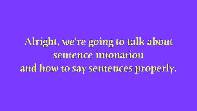 A1.L11 Sentence Intonation Pronunciation