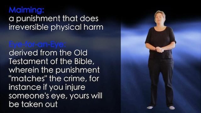 B1.L12.V2 Punishment vocabulary