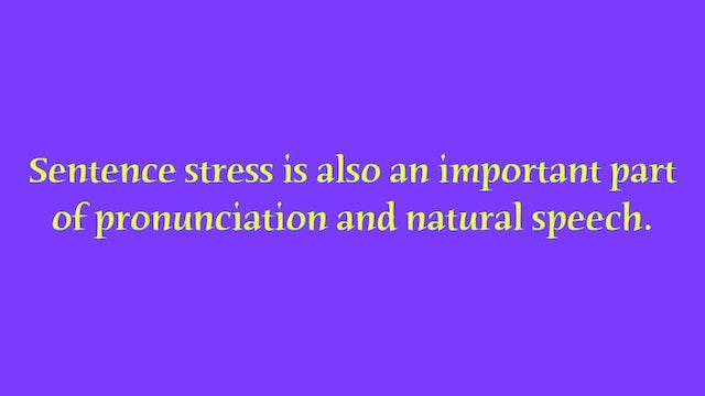 A1.L9 Sentence Stress Pronunciation