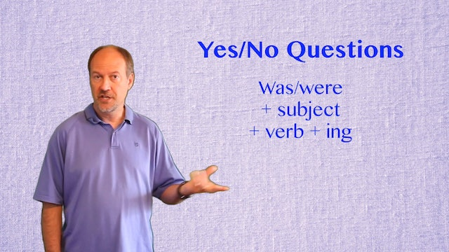 A2.L6.G2 Past Continuous with Questions Grammar