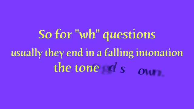 A1.L5 Rising and Falling Intonation Pronunciation