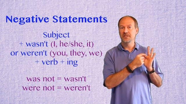 A2.L6.G1 Past Continuous Grammar