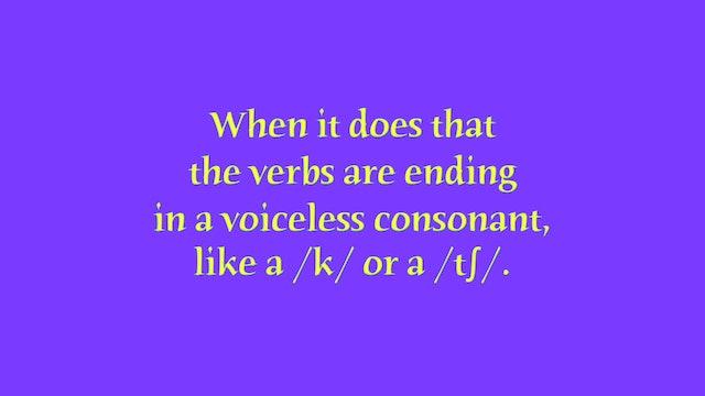 """A1.L14 Simple Past """"ed"""" endings Pronunciation"""
