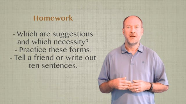 B1.L2.G1 Modals for Suggestion & Necessity grammar