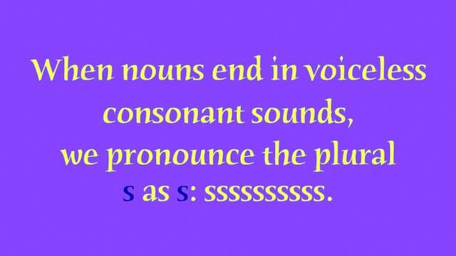 A1.L2 Plural Endings Pronunciation