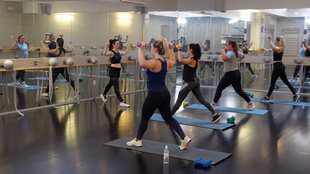 In-studio: Barre+Cardio with Raphaelle Kessedjian, 8.3.19