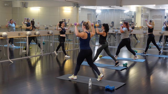 In-studio: Barre+Cardio with Raphaell...