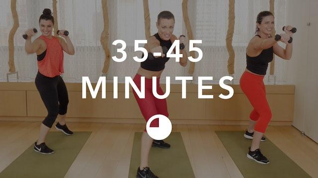 Cardio in 35-45 Minutes