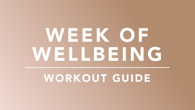 Week of Wellbeing: Workout Guide