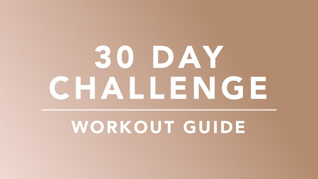 30 Day Challenge: Workout Guide